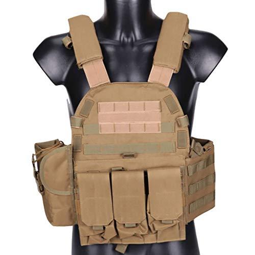 HYYBX-99 Chaleco táctico Militar Chalecos Ligeros multifuncionales Equipo de Combate de Campo al Aire Libre de Camuflaje CS 6094 Al Aire Libre (Color : B)