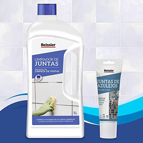 BEISSIER - Set reparación juntas de azulejos Beisser (Reparador juntas azulejos 200ml + Limpiador juntas azulejos pared y suelo 1l)