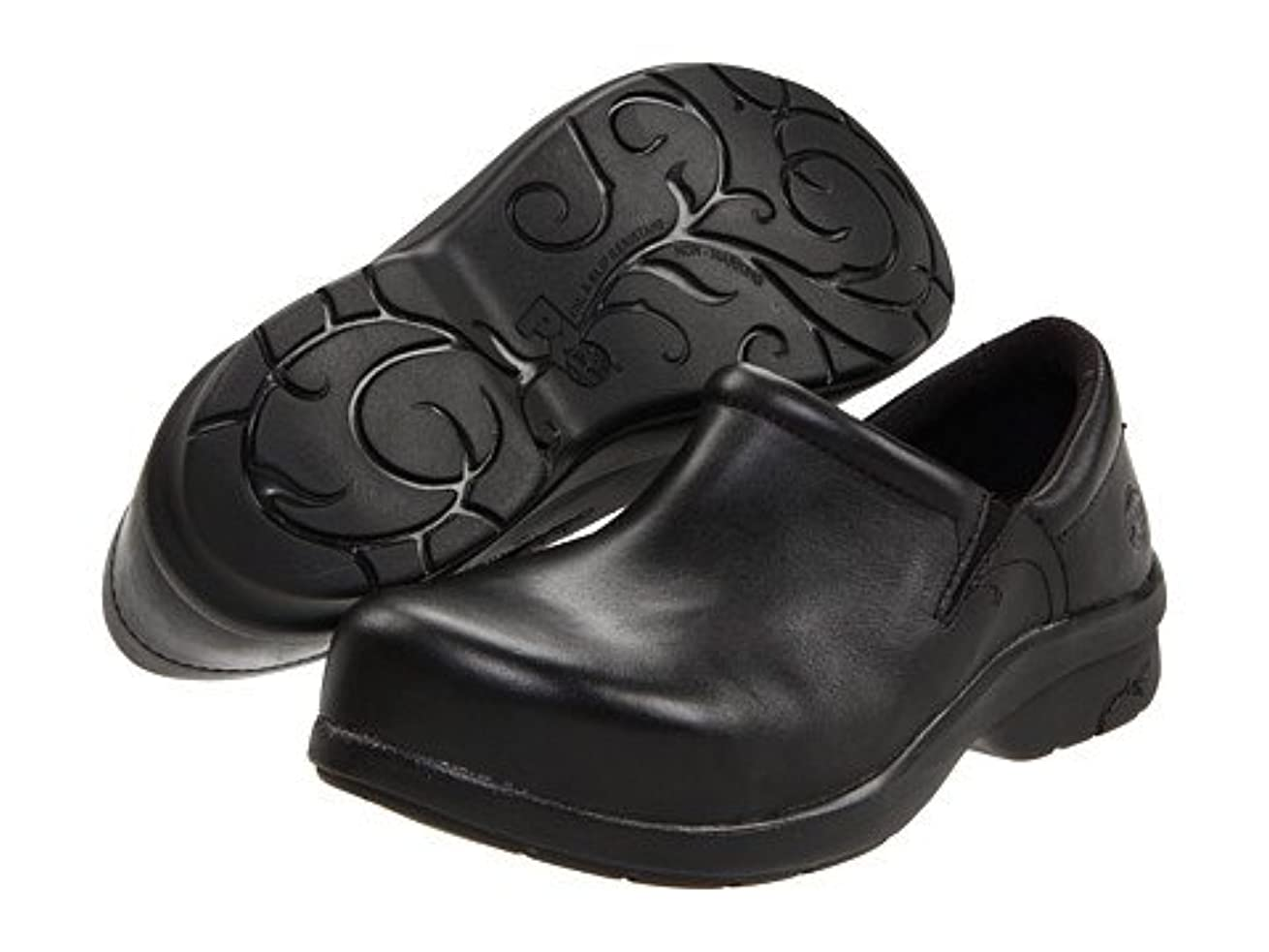 幅コピー収縮レディースウォーキングシューズ?カジュアルスニーカー?靴 Newbury ESD Alloy Toe Black 7.5 24.5cm D - Wide [並行輸入品]