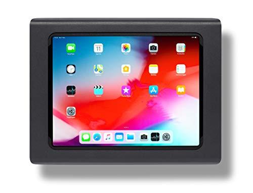 Tabdoq Wandhalterung kompatibel mit Apple iPad Pro 12.9 (2018 & 2020) 3. & 4. Generation (schwarz)