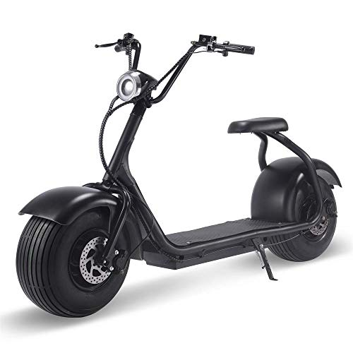 2000w Motor Lithium Electric Scooter for Adults, Fat Tire Electric Scooter with Seat, LCD Display, Bright LED Headlight, Hydraulic Front and Rear Brakes and Wide Deck