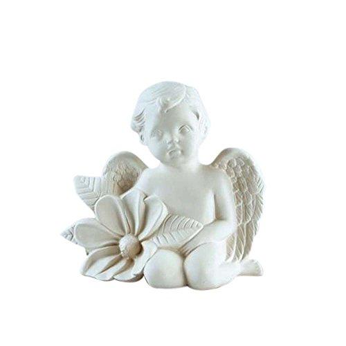 Bitto Objeto decorativo aromático, cerámica perfumada Flor de ángel 15x15 cm sin platillo