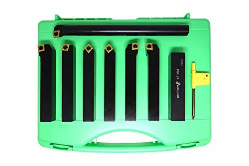 PAULIMOT Drehmeißel-Set mit Wendeplatten, 16 mm, 7-teilig inkl. Bohrstange