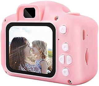 Pantalla HD Mini cámara Digital Recargable Niños Dibujos Animados Cute Camera Toys Accesorios de fotografía al Aire Libre para Regalo de cumpleaños Infantil - Rosa