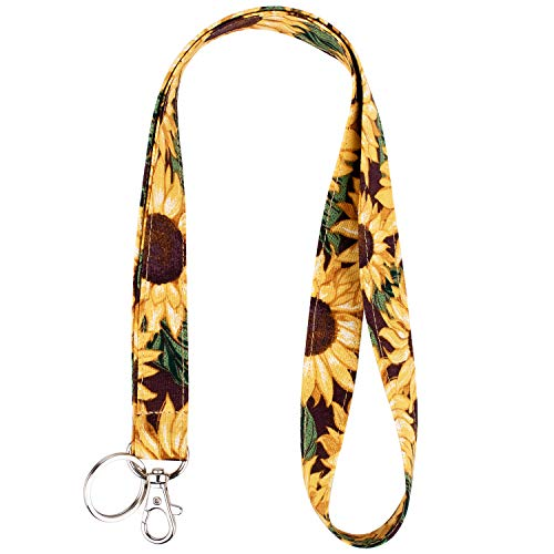 Celokiy Sunflower Keychain Lanyard - Cute...