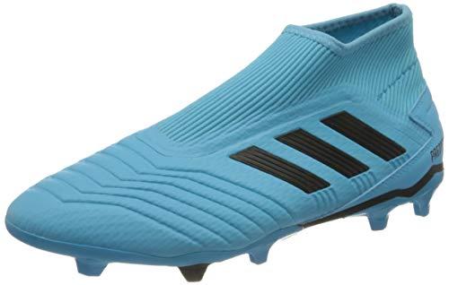 Adidas Scarpe Calcio Predator 19.3 FG LL G27923 Senza No Lacci con calzino cavigliera Azzurre Bright Cyan/Core Black/Solar Yellow (41 1/3 EU) Uomo