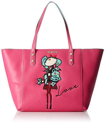 Love Moschino - Moschino, Bolsos totes Mujer, Pink (Fuchsia), 14x30x48 cm (B...