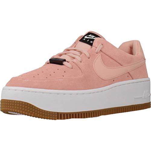 Nike Air Force 1 Sage Low, Zapatillas de Baloncesto para Mujer, Multicolor (Coral Stardust/Coral Stardust/Black 603), 42 EU