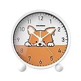 Despertador Creatividad Sencillez Reloj Digital Mudo Moda Dibujos Animados Estudiante Animal Niño Cuarto Cabecera,D