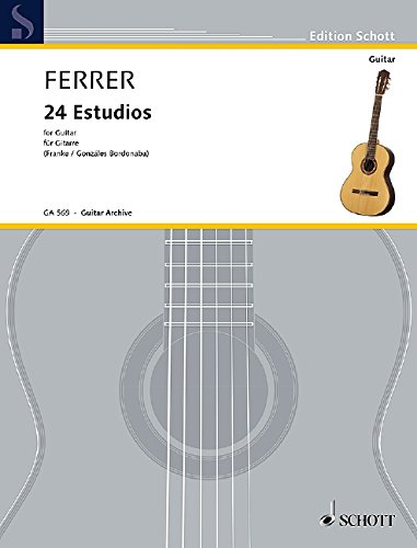 Jose ferrer y esteve: estudios for solo guitar