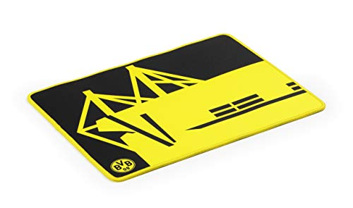 snakebyte BVB Gaming Mauspad - Offiziell lizenziertes Borussia Dortmund Mousepad / verbessert Präzision, Geschwindigkeit / Rutschfest / Reibungsarm / Low Latenz Gaming / verschleißfest / Größe 36x28cm