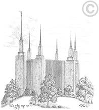 LDS Washington DC Temple - Chad Hawkins Temple Sketch - 11x14 Print