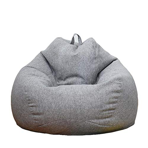 GQJQWE Lazy Bean Bag Sofas Bezugstühle ohne Füllstoff Leinenstoff Liege Sitz Sitzsack Hocker Puff Couch Tatami Living Room
