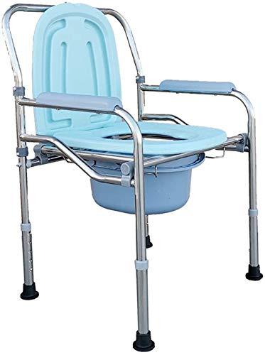 HMMN Ocho Silla de baño Plegable de Seguridad Ajustable, Servicio Pesado, guardado, Ahorro de Espacio para Ancianos, discapacitados, Adultos Mayores