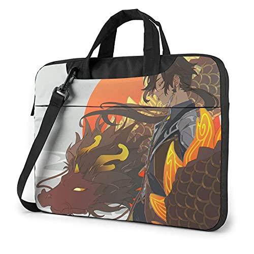 XCNGG G_enshin I_mpact Zhongli Laptop Bag Tablet Portable Briefcase Protective Case Cover Messenger Bags 14 inch