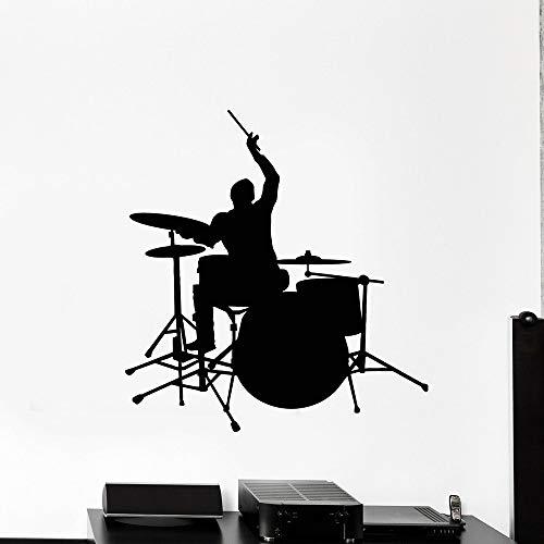 Tianpengyuanshuai Vinyl Wandtattoo Musikinstrument Drumstick Wandaufkleber Boy Room Klassenzimmer Dekoration 30X31cm