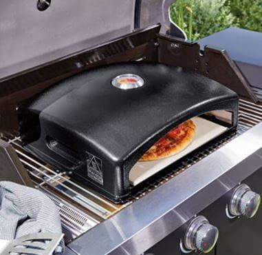 Grillmeister Barbacoa Pizza Box Horno Carbón Gas Fire