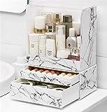 Cosmetics Halter BoxWhite Beauty Multifunktions-Make-Up-Schmuck-Organizer Kosmetikzubehör Make-Up-Aufbewahrungsboxen Desktop-Kosmetik Oder Stationäre Aufbewahrungsbox (Marmoroptik),M