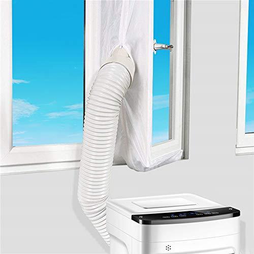 Vegena Fensterabdichtung Für Mobile Klimageräte,Fensterabdichtung für Klimaanlagen, Abluft-Wäschetrockner, Anbringen an Fenster,Flügelfenster, Dachfenster,Fensterabdichtung (400CM)