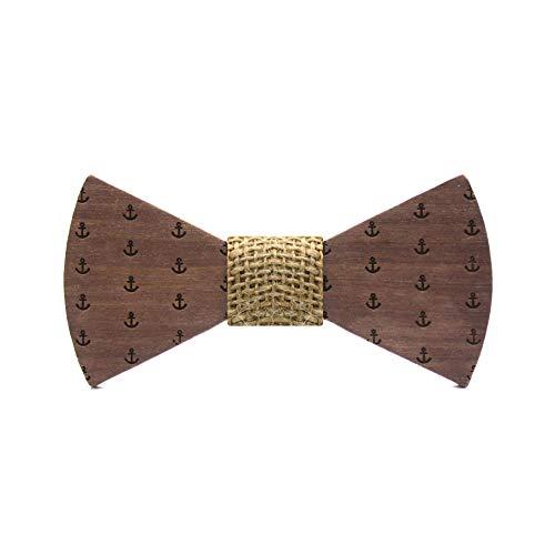Territorial Pajarita de madera Anchor. Colección moda hombre: diseño con anclas de...