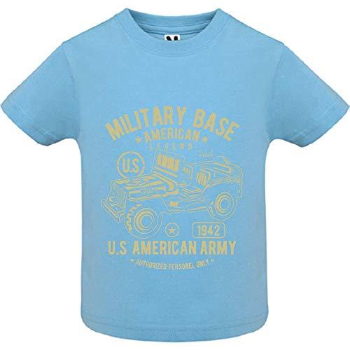 T-Shirt - American Army Jeep - Bébé Garçon - Bleu - 12mois