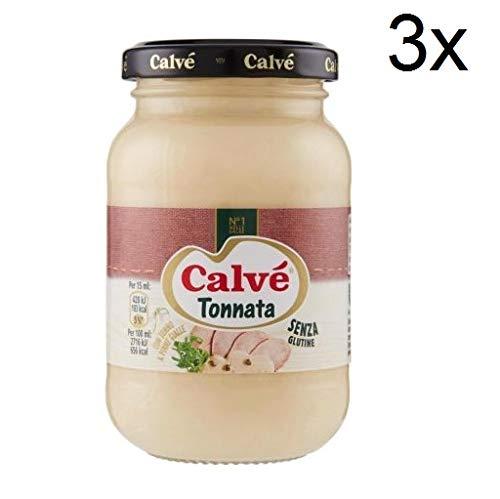 3x Calvè Salsa Tonnata Thunfischsauce würzen soße Salad sauce 225 ml