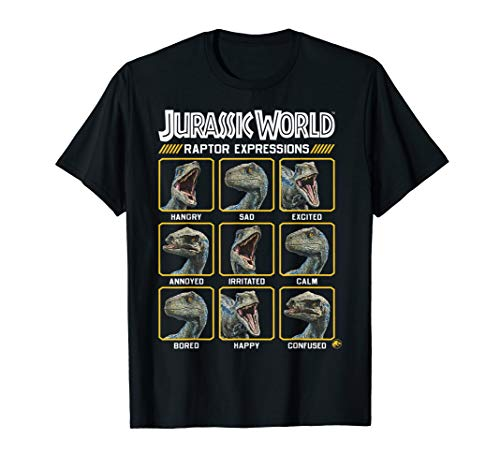 Jurassic World 2 Expressions of Raptor Squares T-Shirt