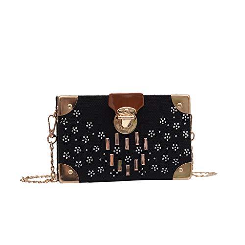 Stroh Crossbody Tasche Runde Sommer Strand Geldbörse Handtaschen, Einzigartiger Retro-Stil, Bohemian Strandtasche, geeignet für Strände, Partys, Handtaschen, Messengertaschen (Schwarz)