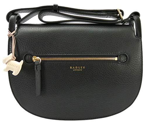 Radley Umhängetasche/Handtasche aus Leder, Schwarz - Schwarz - Größe: Medium