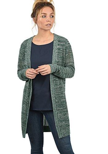 DESIRES Lia Damen Lange Strickjacke Lochstrick Cardigan Strickcardigan MIt Offenem V-Ausschnitt Aus 100% Baumwolle Loose Fit, Größe:L, Farbe:North ATL. (3324M)