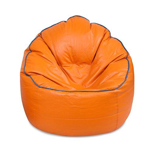 VSK Bean Bag Cover XXXL Sofa Mudda Cover Orange (Without Beans)