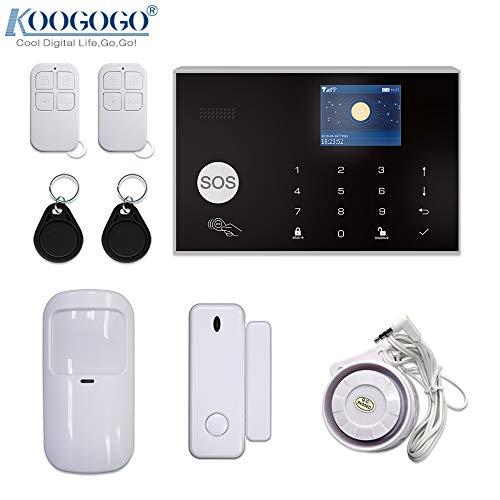 KOOGOGO G30 Tuya WiFi gsm Sistema de Alarma de Seguridad para el hogar, 433 MHz, Control de aplicación, LCD, Teclado táctil, 11 Idiomas, Sistema de Alarma inalámbrico