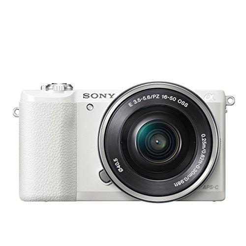 Sony Alpha 5100L Fotocamera Digitale Compatta, con Obiettivo Intercambiabile, Sensore APS-C CMOS Exmor da 24.3 MP, Obiettivo 16-50 mm Incluso, Bianco