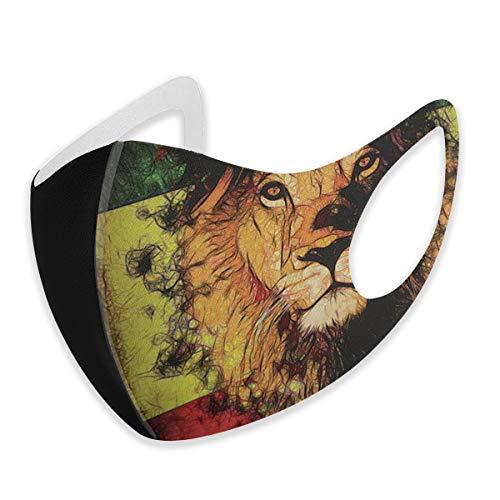 Mundschutz für Erwachsene, Reggae King, Rasta, Löwe, Anti-Staub, halbes Gesicht, wiederverwendbar, für Damen und Herren