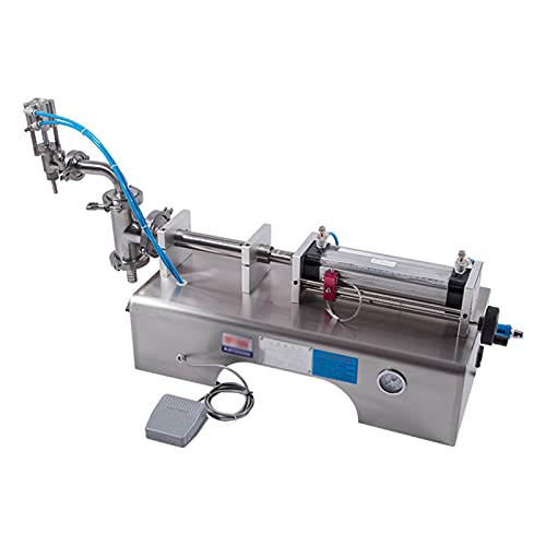 DUTUI Máquina Llenadora De Pasta Líquida De Un Solo Cabezal, Máquina Llenadora Neumática Horizontal Cuantitativa Automática, 50-500Ml