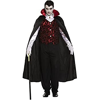 Adult Mens Deluxe Vampire Dracula Halloween Party Fancy Dress Costume Outfit