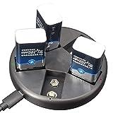 Rehomy Cargador de batería universal con 5 ranuras para baterías recargables de 9 V Ni-MH