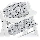Hauck Sitzauflage/Sitzverkleinerer für Hochstuhl Alpha und Beta - 2-teiliges Sitzkissen aus Baumwolle - Nordic Grey Grau
