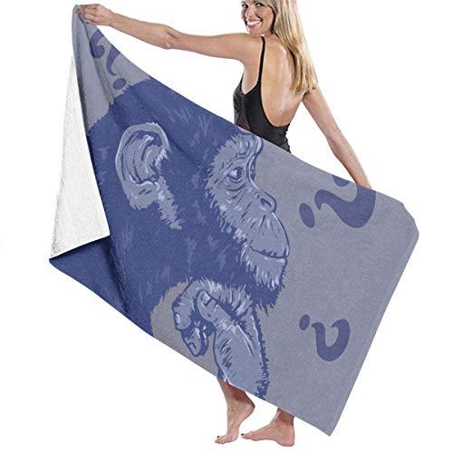 asdew987 Toallas de playa Silverback Mountain Gorilla Toallas de baño para adolescentes y adultos, toalla de viaje 31 x 51 pulgadas