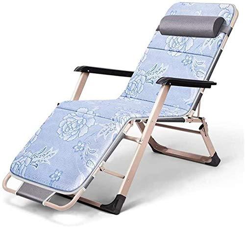 Sillón Sillón de sillón reclinable ocio sillón de ocio, silla plegable multiusos para el interior de la silla de balcón para el hogar para el viaje al aire libre Playa de la playa de camping silla obl