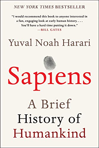 Sapiens: A Brief History of Humankind book cover