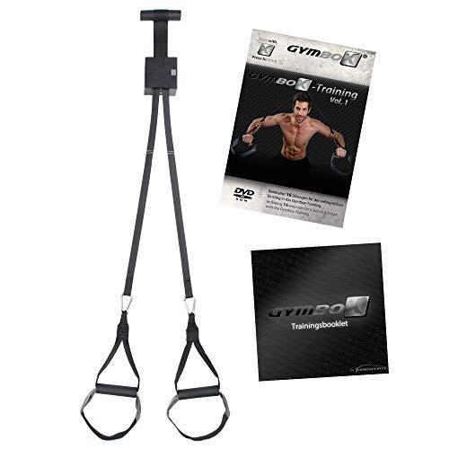 GYMBOX Home Sling Trainer Schlingentrainer DVD, Türbefestigung, Türanker, Übungen für zu Hause