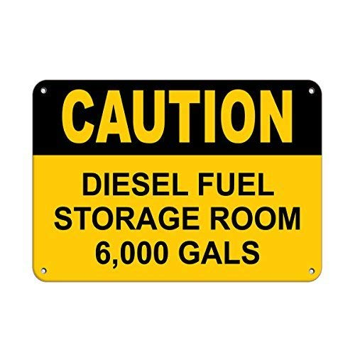 Bair89Pulla Voorzichtigheid diesel opslag kamer 6.000 meiden Magazijn Tekenen Aluminium Metaal Teken 8x12 inch