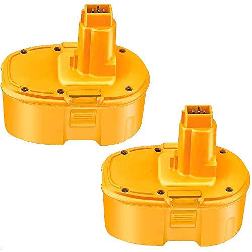 Product Image 1: 4000mAh Replacement for Dewalt 18V Battery XRP DC9096 DC9099 DC9098 DW9099 DW9098 388683-12 651034-01 DE9039 DE9095 DE9096 DE9098 DW9096 DW9095 Batteries 2 Packs