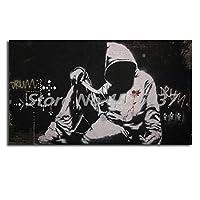 キャンバスペインティング ナイフ落書き壁紙HDキャンバス絵画プリントリビングルームの家の装飾とフーディー現代の壁アート油絵ポスター 50x75cm