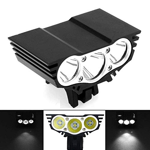 AllExtreme EX3OEB1 3 LED Owl Eye Waterproof CREE LED Fog Light with High Beam/Low Beam Function for Bike/Motorcycle and Cars (30W, Black, 1 PC)