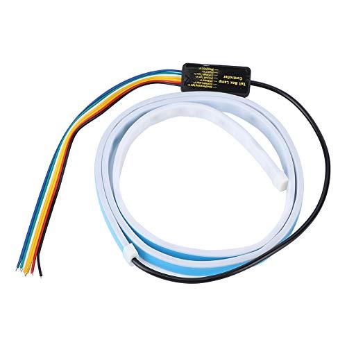 Tira de luz LED tipo flujo de 4 colores Barra de luz de puerta trasera 47in 12V Luces de señal de giro Lámpara de tiras de maletero que fluye RGB universal