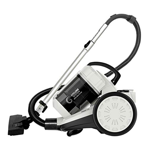 Inalsa Vacuum Cleaner Bagless Cylinder Zeus-1400W with HEPA Filter, Blower Function, Powerful Suction & High Energy Efficiency| 1.5 L Dust Box Capacity| 2 Years Warranty, (White/Grey)