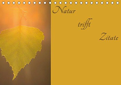 Natur trifft Zitate (Tischkalender 2019 DIN A5 quer): Naturbilder geschmückt mit Zitaten (Monatskalender, 14 Seiten ) (CALVENDO Natur)