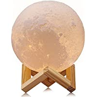 Hway 16 Colors LED 3D Printing Touch & Remote Control Moon Lamp